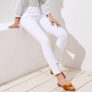 NEW Loft White Skinny Jeans